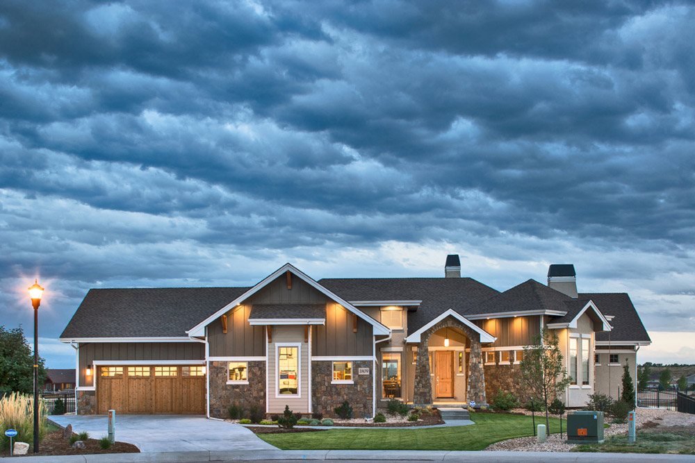 Exterior Image, front of house full width