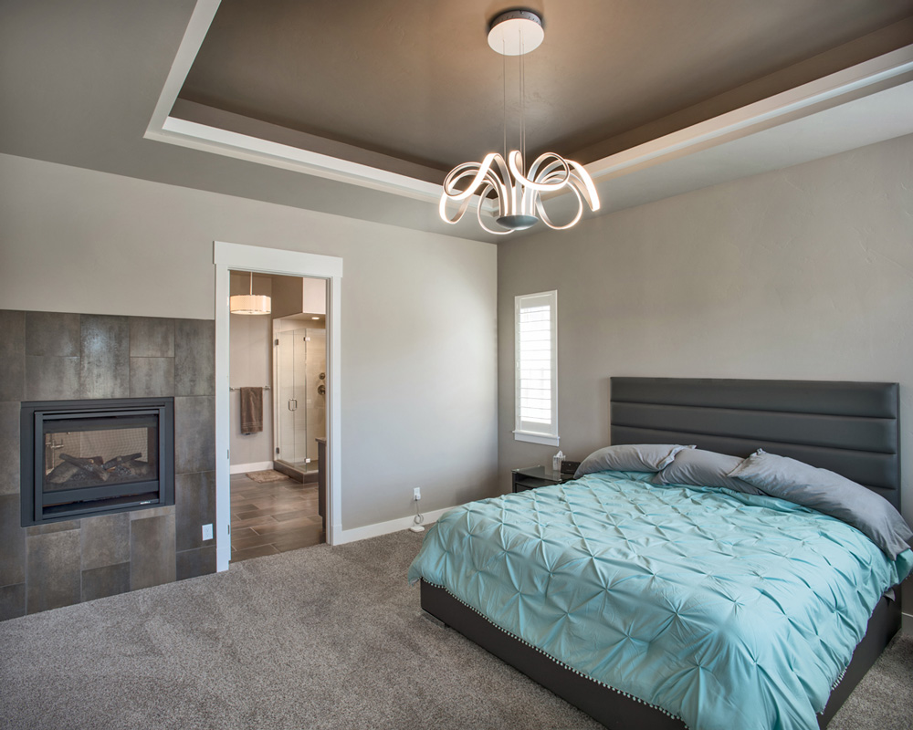Master bedroom, fireplace and soffit details