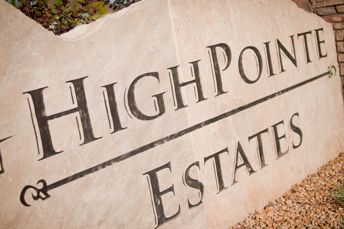 High Pointe sign